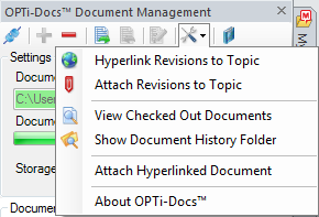 OPTi-Docs revision and check out control pane