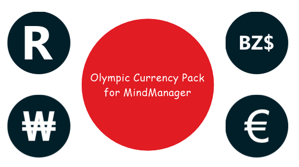 World Currency Icons for Mindjet MindManager