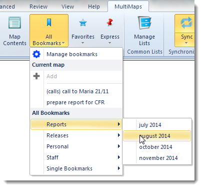 MultiMaps for MindManager Map Navigator