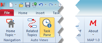 Task Pane Command Enabled Cut Out