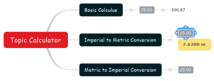 Topic Calculator Command Conversion Result
