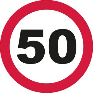 50 Sign Post