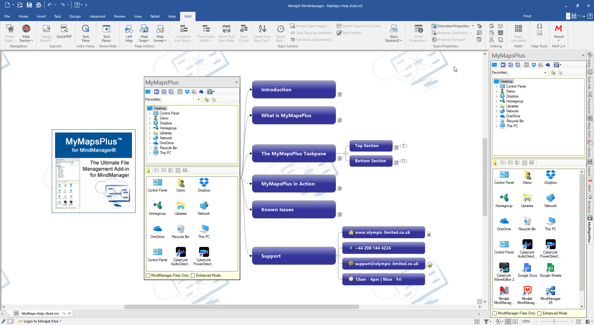 MyMapsPlus for MindManager