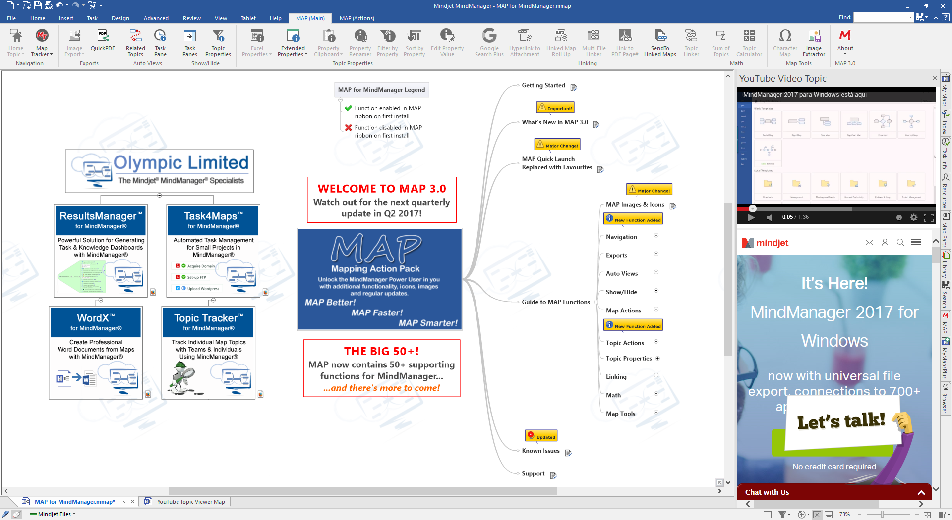 MAP 3.0 for MindManager